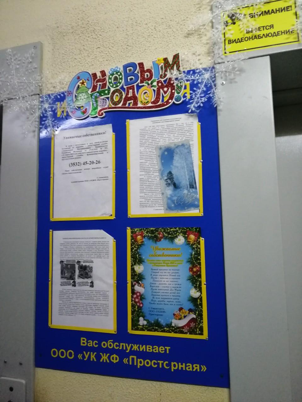 Салмышская 43 5 новогоднее украшение парадных
