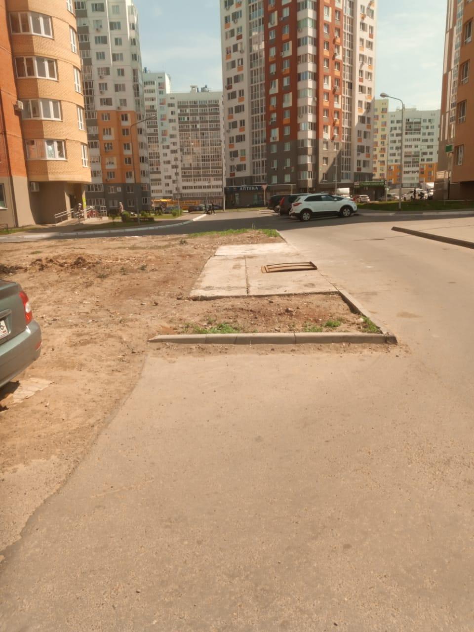 Демонтаж контейнерной площадки Поляничко 2 2а 4-1