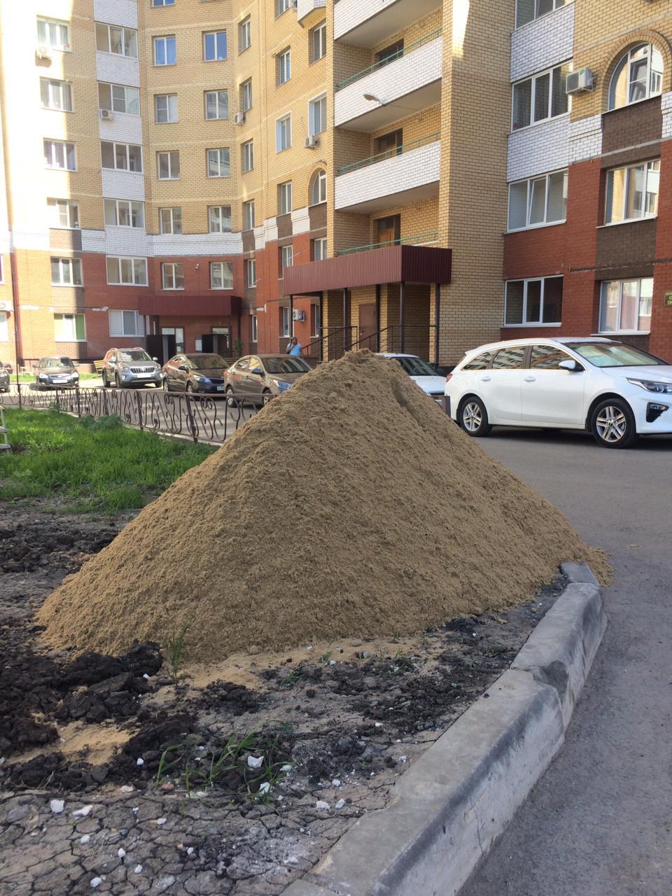 Завоз песка на ул. Высотная 10