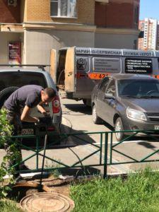 Промывка канализации службой Крот, Поляничко 2