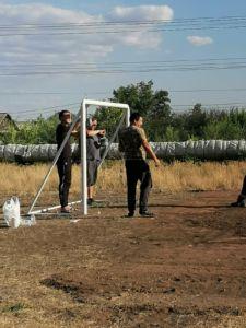 покраска ворот нав футбольном поле Ямашева 8