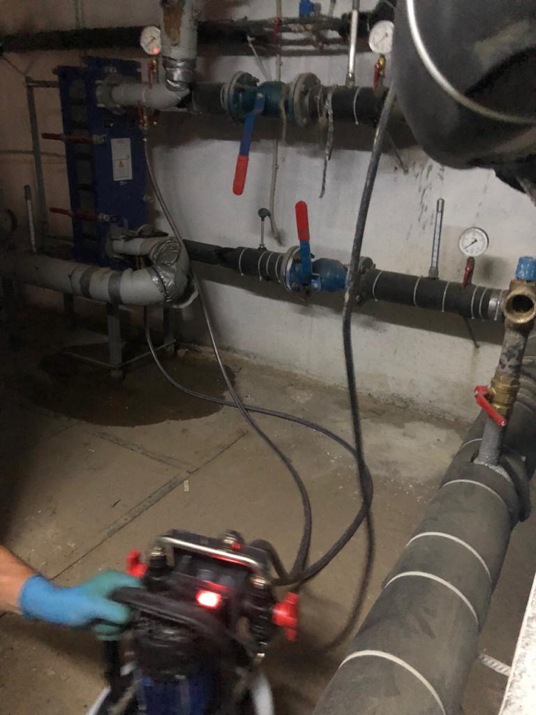 Промывка теплообменника системы отопления, Поляничко 2а