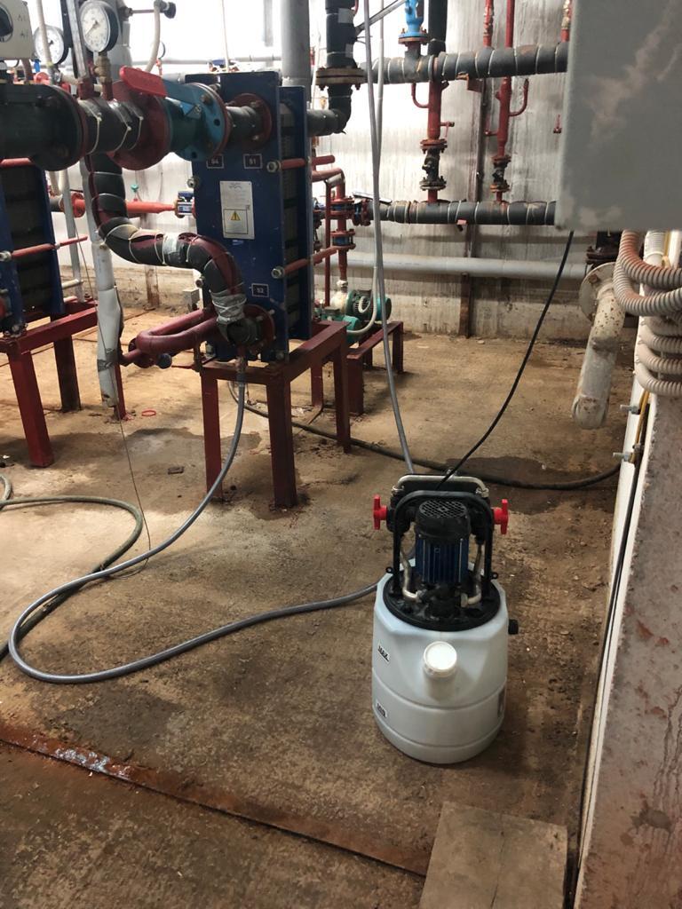 Промывка теплообменника системы горячего водоснабжения, Поляничко 2