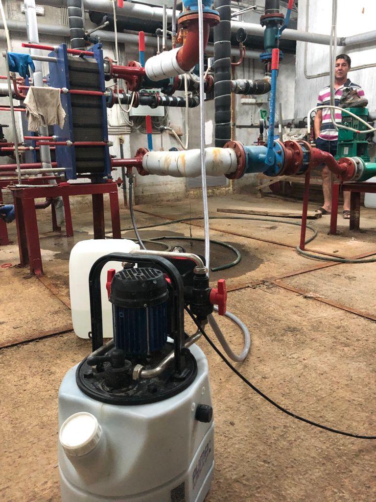 Промывка теплообменника системы отопления, Поляничко 2