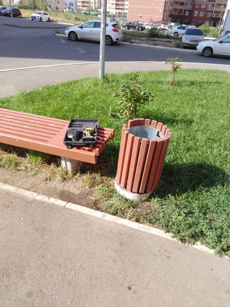 ремонт урн, Поляничко 2А, текущий ремонт