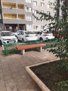 Мира 3/1, Карагандинская 63, установили 2 лавочки на детской площадке