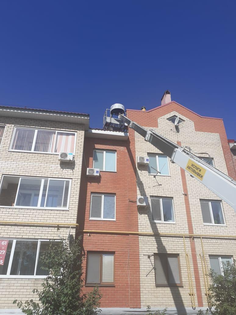Ремонт кровли ул. Гражданская 36 над квартирой 34.